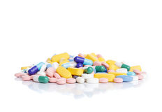 Pile of pills. Royalty Free Stock Images