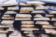 Pile of pine boards. Closeup of pile of pine boards Royalty Free Stock Photography