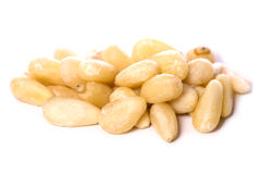 Pile of pine nuts cutout Royalty Free Stock Images