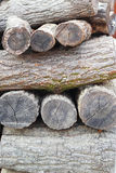Pile of pine wood background texture Royalty Free Stock Images