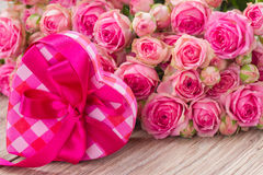 Pile  of pink roses Royalty Free Stock Photography
