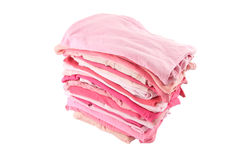 Pile of pink shade cloths Stock Image