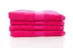 Pile of pink towels Stock Image