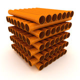 Pile of pipes Stock Images