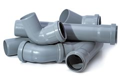 Pile of pipes from polyethylene of low pressure Stock Image