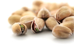 A pile of pistachio nuts royalty free stock images