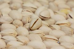 Pile of pistachio nuts Royalty Free Stock Photography