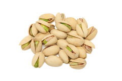 Pile of pistachios on white background Royalty Free Stock Photo