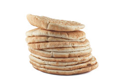 Pile of pita breads Stock Images