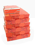 Pile of pizza delivery boxes Stock Photography