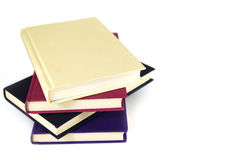 Pile of 4 plain covered books Royalty Free Stock Images