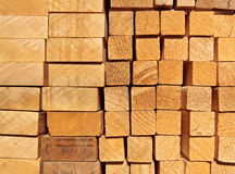 A pile of planks Royalty Free Stock Photo