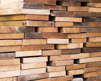Pile of planks Stock Photography