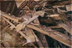 Pile of boards Royalty Free Stock Photo