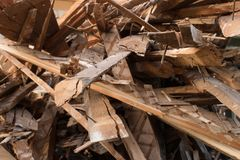 Pile of boards Stock Photos