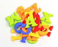 Pile of Plastic Alphabets Stock Photo