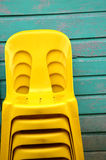 Pile plastic chair Stock Photos