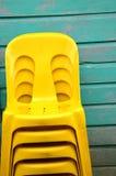 Pile plastic chair Stock Photos
