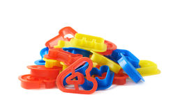 Pile of plastic letter forms isolated Royalty Free Stock Photos