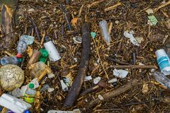 Pollution in the River - 3 royalty free stock image