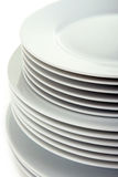 Pile of plates Stock Photos