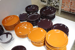 Pile of plates Royalty Free Stock Photography