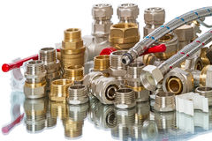 Pile of plumbing parts Royalty Free Stock Photography