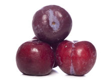 Pile of plums cut out Royalty Free Stock Photography