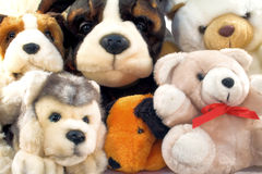 Pile of plush animals Stock Photo