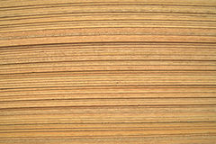 Pile of plywood sheets. Closeup of Pile of plywood sheets Stock Photography