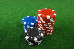 Pile of poker chips. A pile of poker chips Stock Photo