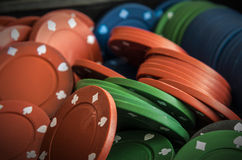 Pile of poker chips Stock Photography