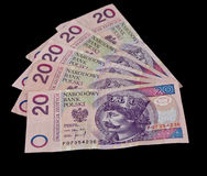 Pile of polish money. Zloty Royalty Free Stock Photos