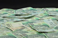 Pile Polish 100 zloty notes Royalty Free Stock Images