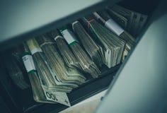 Pile of Polish Zloty in Safe Box Stock Image