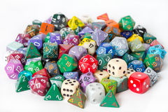 Pile of Polyhedrons Royalty Free Stock Image