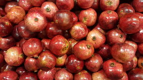 Pile of pomegranate. Overhead pomegranates. Royalty Free Stock Images