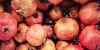 Pile pomegranates in a box. Lycian Way Walking. Royalty Free Stock Photo