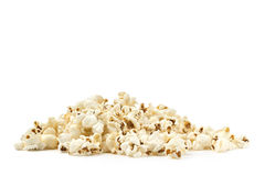 Pile of pop corn. On white background Stock Image