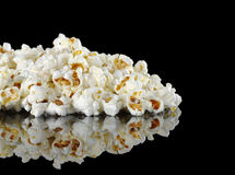 Pile of Popcorn on Black Royalty Free Stock Photos