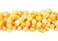 Pile of popcorn flakes isolated Stock Image