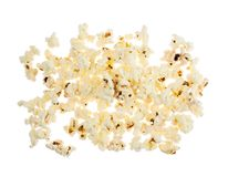 Pile of popcorn isolated Royalty Free Stock Images