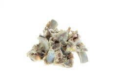 Pile of pork bones on white background Royalty Free Stock Image