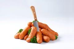 Pile of pork sausages Stock Photos