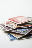 Pile of Postage Stamps Stock Image
