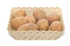 Pile of potato in the basket. Close up of pile of potato in the basket Royalty Free Stock Photography