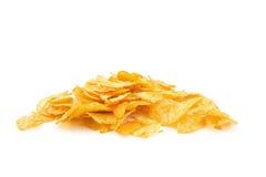 Pile of potato chips Stock Photos