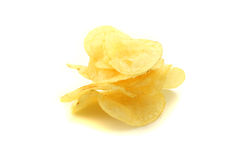Pile of potato chips Royalty Free Stock Image