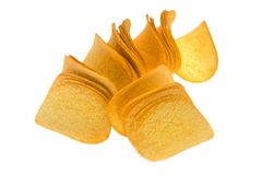 A pile of potato chips Stock Images