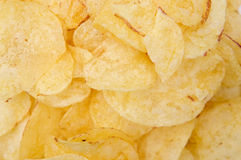 A pile of potato chips Stock Photo